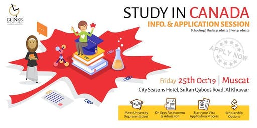 Study in Canada- Information and application session for 2020 Intakes