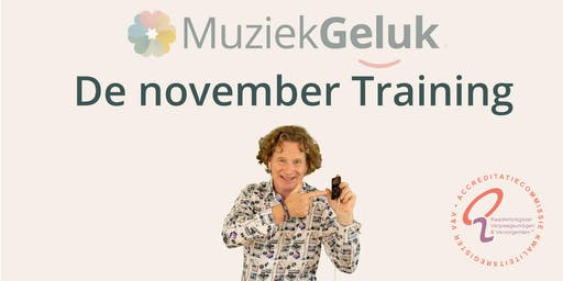 November MuziekGeluk Training - V&V geaccrediteerd met 5 punten