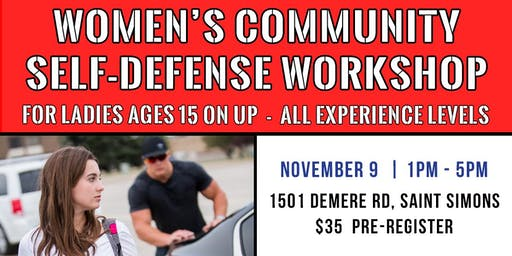 Women's Community Self-Defense Workshop