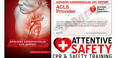 ACLS Provider Class, $200, Same day AHA card