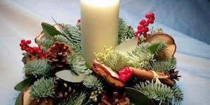 Christmas Candle Floral Arrangement