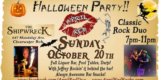 April Red Rockin' The Shipwreck's Halloween Party on Clearwater Beach!