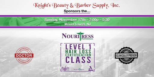 Nouritress Level I - Hair Loss Certification Class for Beauty & Health Prof