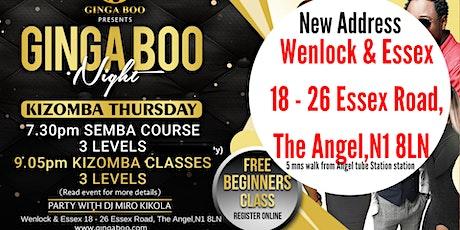 Kizomba Thursday - 3 levels Semba &  Kizomba Classes & Party  tickets
