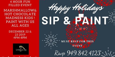 HOLIDAY SIP AND PAINT ALL AGES tickets