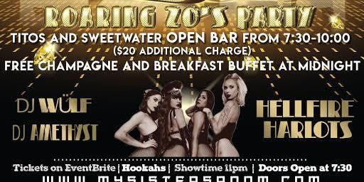 New Years Eve Roaring 20's Party My Sisters Room Open Bar