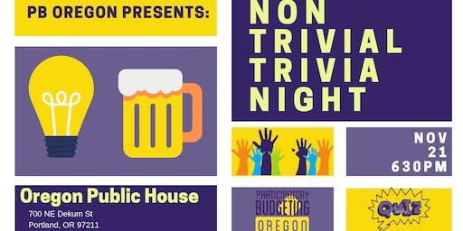Non Trivial Trivia Night