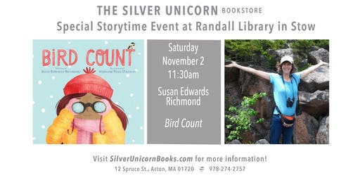 Special Storytime Event: Susan Richmond at Randall Library in Stow