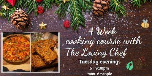 4 Week Evening Vegan Cooking Classes - Christmas Theme