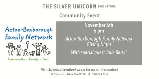 Acton-Boxborough Family Network Giving Night with Special Guest Julie Berry