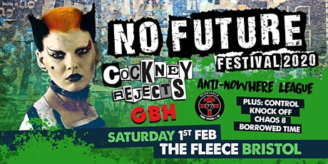 No Future Punk Festival 2020 ft. Cockney Rejects / Anti-Nowhere League + 5 tickets