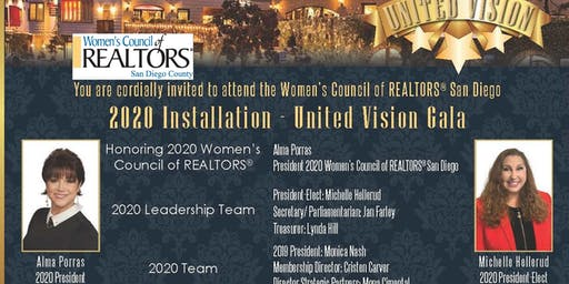 Women's Council of REALTORS® San Diego County Presents United VISION Gala