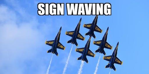 Sign Waving! Jax Air Show Sunday Oct 27