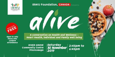 ALIVE- A Conversation on Health and Wellness tickets