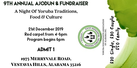 9th ANNUAL YODAAI END OF YEAR  PARTY (AJODUN) AND FUNDRAISER tickets