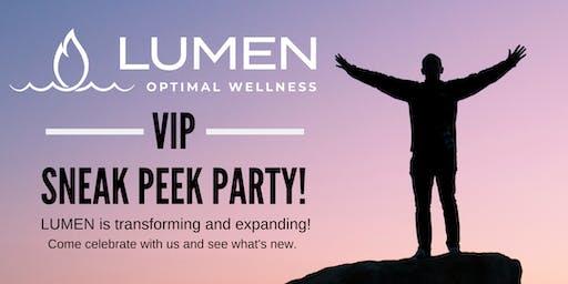 LUMEN Optimal Wellness - Sneak Peek Party!