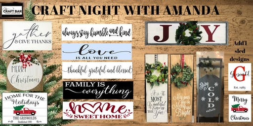 *Private Event - INVITE ONLY*  An evening of Crafting with Amanda!