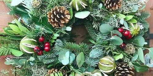 Christmas Wreath Making Workshop including refreshments