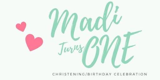 Madilynn's Christening/Birthday Celebration