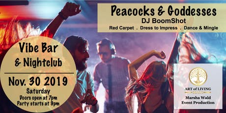 Peacocks and Goddesses Dance and Mingle Party with DJ Boomshot tickets