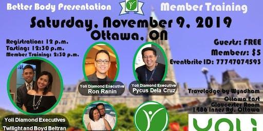 Yoli BBP and Member Training - Ottawa, ON