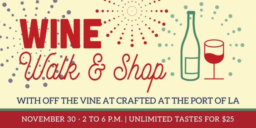 2019 Wine, Walk and Shop at CRAFTED