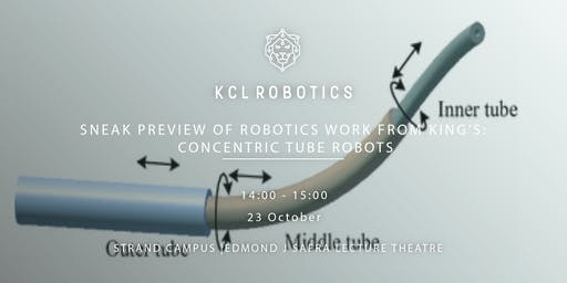 Sneak Preview of Robotics Work from King's: Concentric Tube Robots