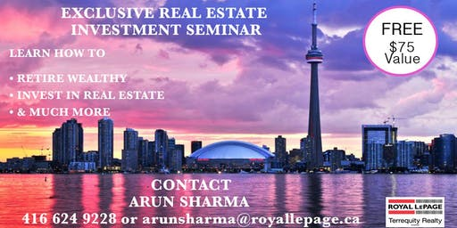 Make Easy Money Investing In Real Estate  For Now and In Retirement FREE Seminar