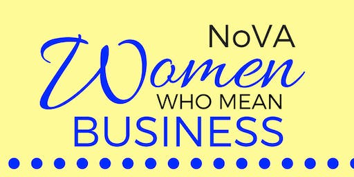 NOVA Women Who Mean Business Networking Event - Oct 25 2019
