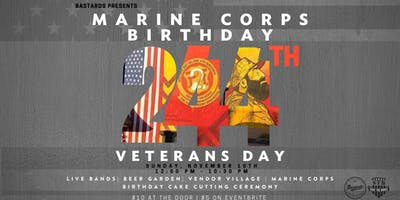 244th Marine Corps Birthday & Veterans Day Bash
