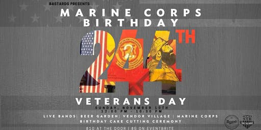 244th Marine Corps Birthday & Veterans Day Bash