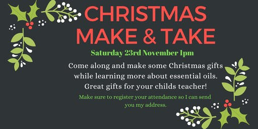 Essential oil Christmas make and take