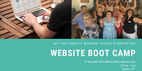 Website Boot Camp - Get your website, working, visible & converting tickets