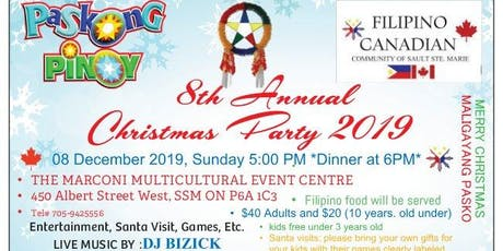 8th Annual Filipino Canadian Christmas Party 2019 tickets
