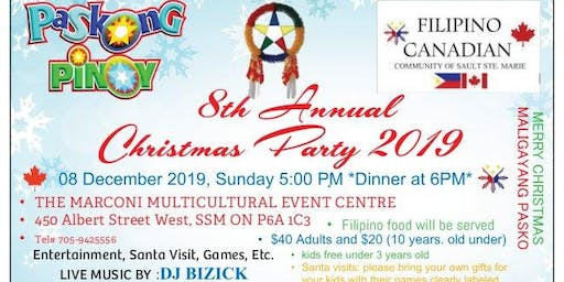 8th Annual Filipino Canadian Christmas Party 2019