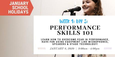 JANUARY School Holidays- WEEK 1- Performance 10 1 - Singing, Stage & Mics! tickets