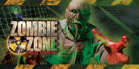Zombie Zone Undead Adventure tickets