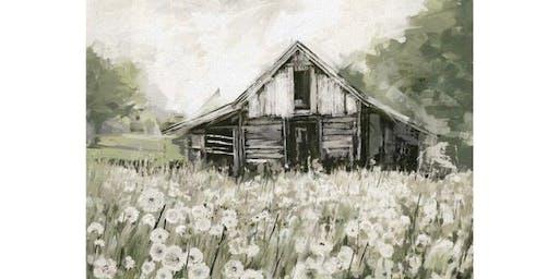 Textured Barn Painting - Pinterest Inspired