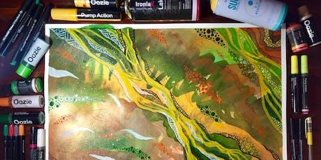 Ironlak Sip 'n' Paint Mixed Media Art Class tickets