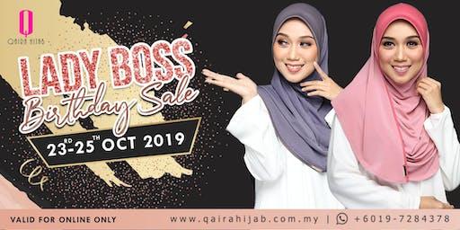 Lady Boss Birthday Sale x Qaira Hijab