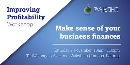 Pakihi Workshop: Improving Profitability - Rotorua