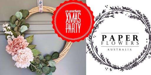 #imadeitmyself  -  Xmas Party & Wreath with Paper Flowers Australia