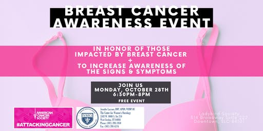 Breast Cancer Awareness night at Ladybird Society