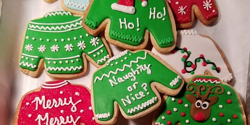 Ugly Sweater Cookie Decorating Workshop!