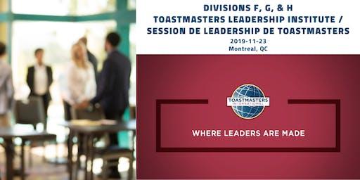 MTL Toastmasters Leadership Institute/Session de leadership de Toastmasters