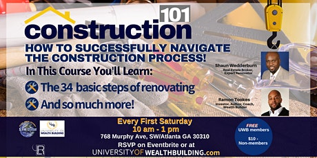 Rehab Construction for Real Estate Investors - with RamonTookes & Shaun Wedderburn tickets