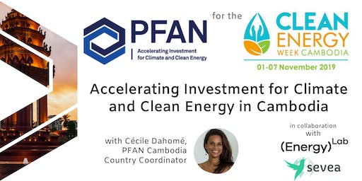 Accelerating Investment for Climate and Clean Energy in Cambodia