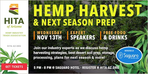 November's Hemp Industry Trade Association of Arizona Meeting