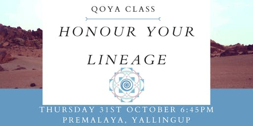 QOYA Dance/Yoga/Sensual Movement-Honour Your Lineage