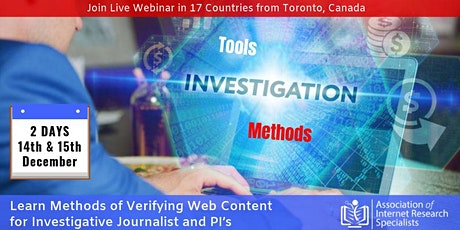 Methods of Verifying Web Content for Investigative Journalist and PI's tickets
